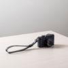 Correa de cuero para cámara de fotos Orballo Negra