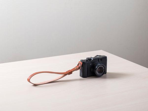 Correa de cuero para cámara de fotos Orballo tostada