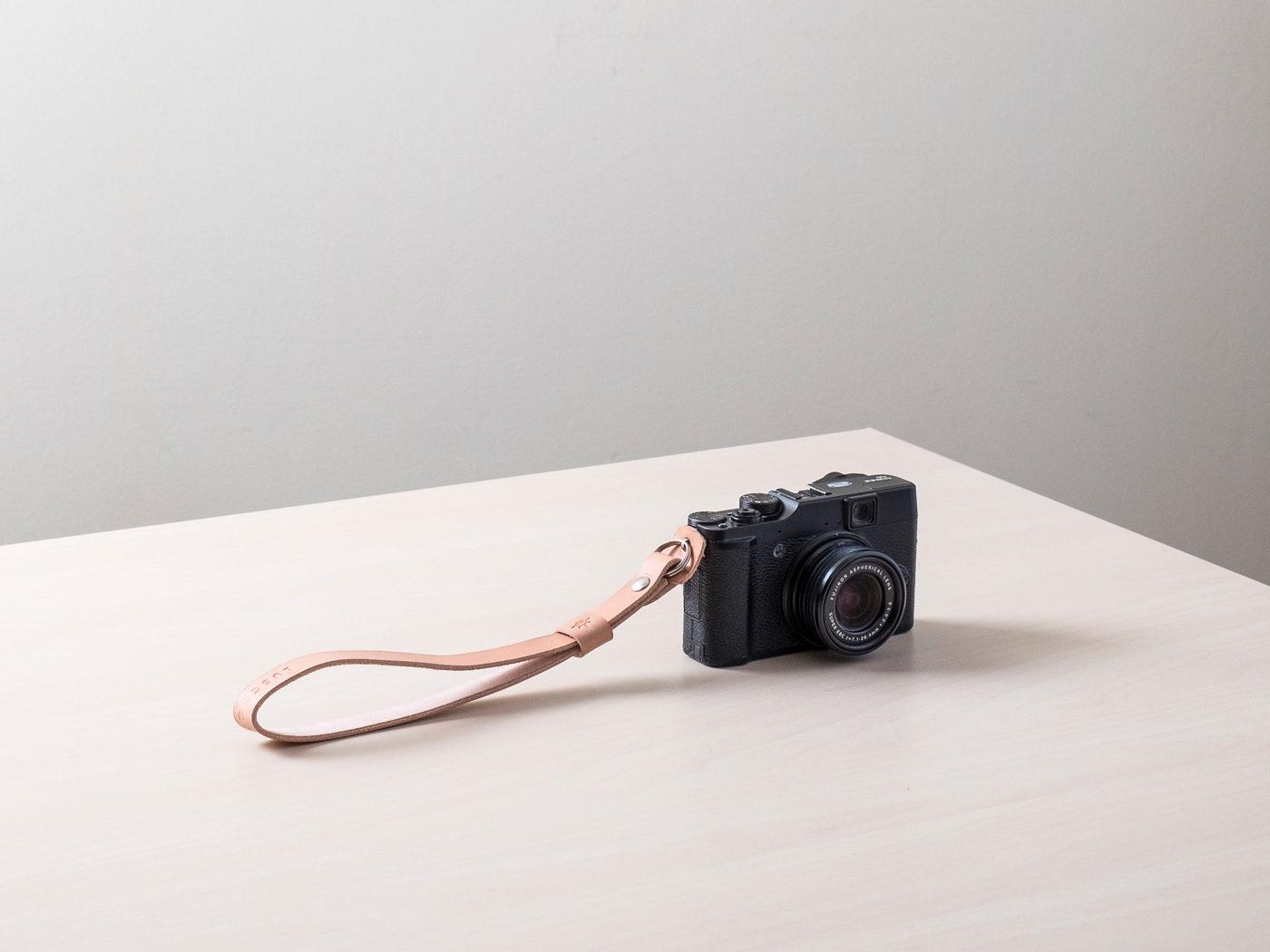 Correa de cuero para cámara de fotos Orballo Natural