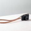 Correa de cuero para cámara de fotos Bretema natural