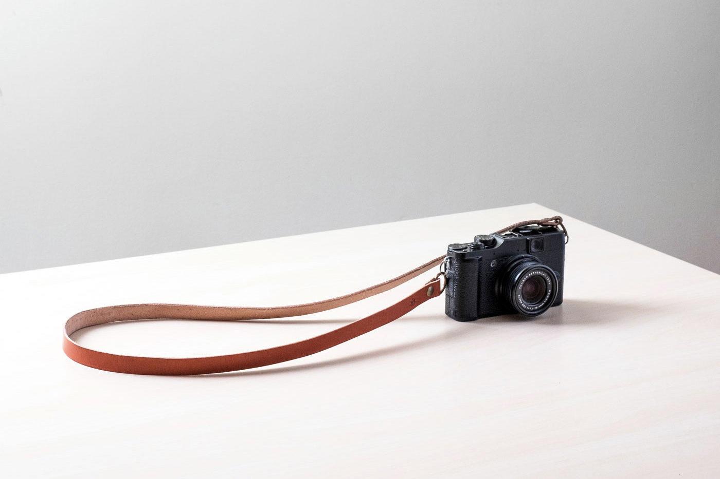 Correa de cuero para cámara de fotos Bretema tostada